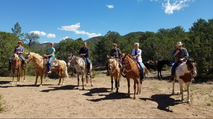 bishops lodge stables, group trail ride